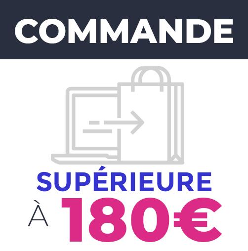 Commande supérieure à 180€ - Frais de livraison : OFFERTS