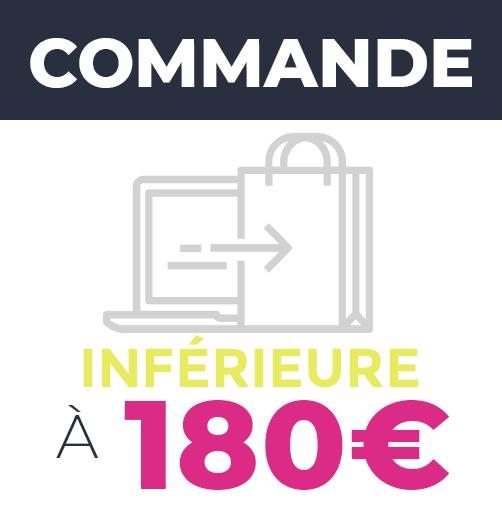 Commande inférieure à 180€ - Frais de livraison : 7,50€