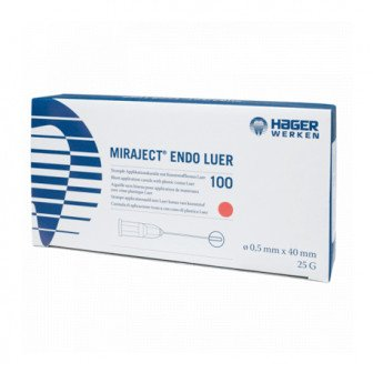 Aiguilles Miraject Endo Luer - Boite de 100 /  Hager Werken