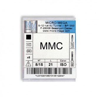 Limes MMC boite de 6 limes Micro Mega