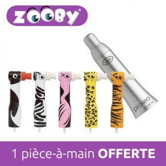 Zooby Starter kit - 500 contre-angles à usage unique + 1 pièce-a-main / Young