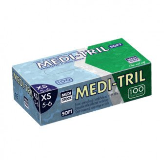 Gants Nitrile non poudrés Medi-Tril - 100 gants Medistock