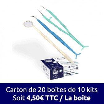 Kit d'examen 3 instruments - Le carton de 200 kits / Medistock