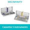 IMS Cassette Infinity 1/4 DIN 5 instruments Hu Friedy