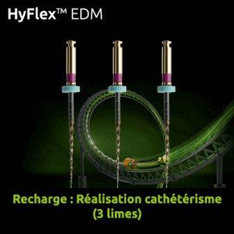 Limes Hyflex EDM Recharge réalisation cathétérisme 3 limes Coltene
