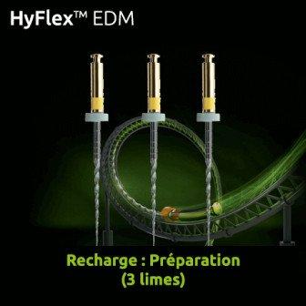 Limes Hyflex EDM Recharge préparation 3 limes Coltene