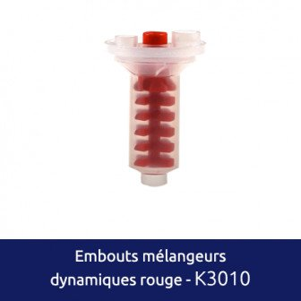 Embouts mélangeurs Dynamiques rouges 50 embouts Medistock