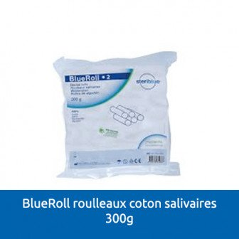 Blue Roll rouleaux de coton salivaires 300g Steriblue