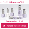 IPS e.max CAD LT (faible translucidité) Dimension B32 - 3 blocs Ivoclar Vivadent