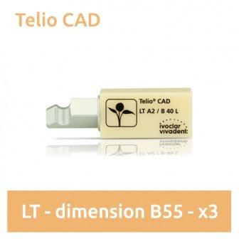 Telio CAD LT (faible translucidité) dimension B55 - 3 blocs Ivoclar
