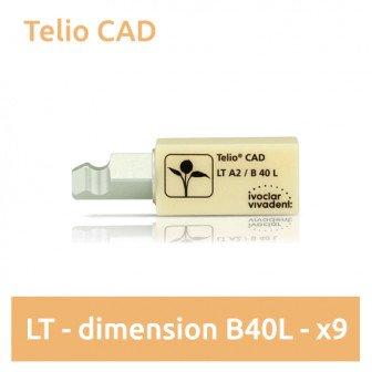 Telio CAD LT (faible translucidité) dimension B40L - 9 blocs Ivoclar