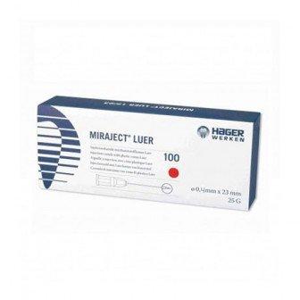 Aiguille Miraject Luer 0.4x23mm - 100u Hager Werken