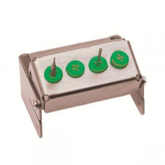 Porte Fraise Plugin 4 perforations vert Nichrominox