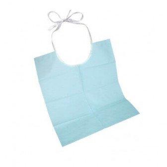 Bavette Bluebib Tie-On bleu 50u Steriblue