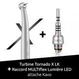Pack : Turbine Tornado X LK + Raccord Multiflex LED Bien Air