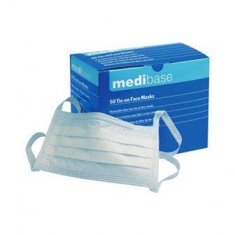 Masques  avec lanières 50u Medibase