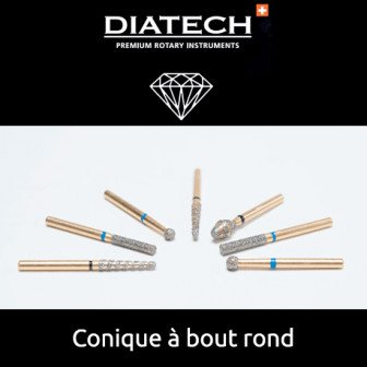 Fraise Diatech Diamant conique à bout rond 5u Coltene