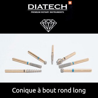 Fraise Diatech Diamant conique à bout long 5u Coltene