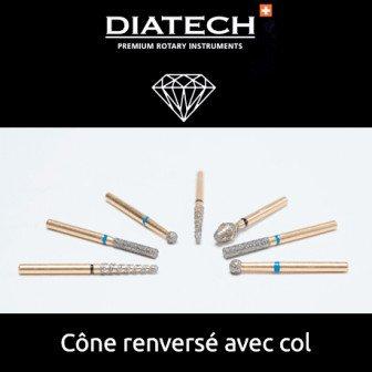 Fraise Diatech Diamant cône renversé avec col 5u Coltene