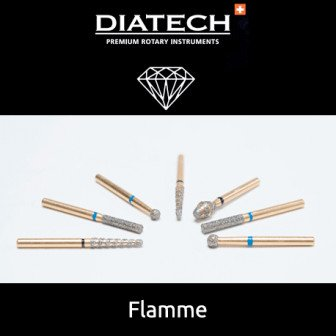 Fraise Diatech Diamant flamme - 5u / Coltene