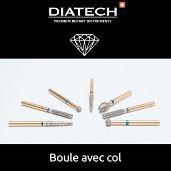 Fraise Diatech Diamant boule avec col - 5u / Coltene