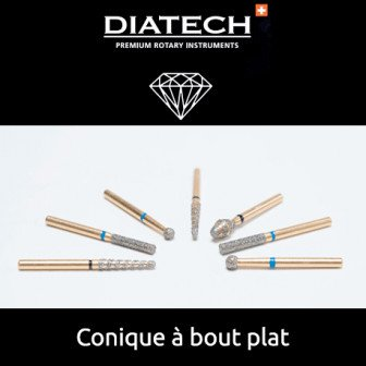 Fraise Diatech Diamant cône plat - 5u / Coltene