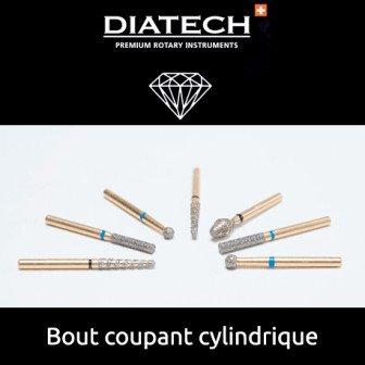 Fraise Diatech Diamant bout coupant cylindrique - 5u / Coltene