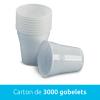 Gobelets blanc 180ml - 3000u / Medibase