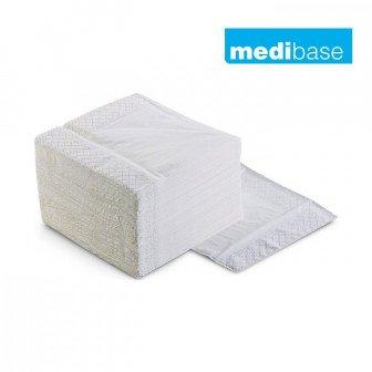 Serviettes 3 plis 40x40 cm 1500u Medibase