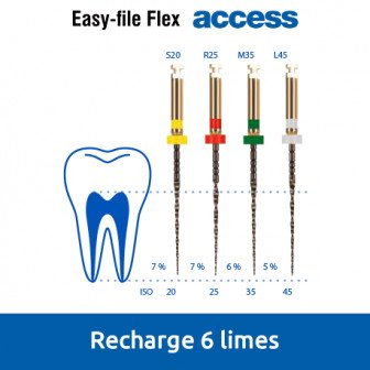 Easy-File Flex -recharge de 6 limes Access