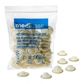 Doigtiers en latex sans poudre 100u Medibase