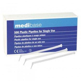 Pipettes plastiques 500u Medibase