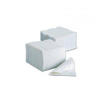 Serviettes blanches 3 plis 40x40cm 1800u Medistock