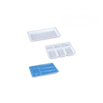 Plateaux jetables non compartimentés - carton de 400 Medistock